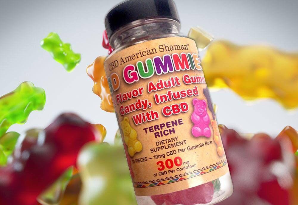 Bottle of American Shaman CBD Gummies